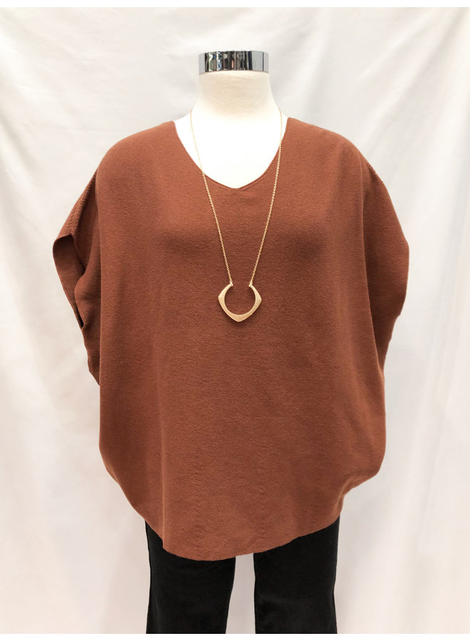 ROUND KNIT SHELL TOP *2 colors available*