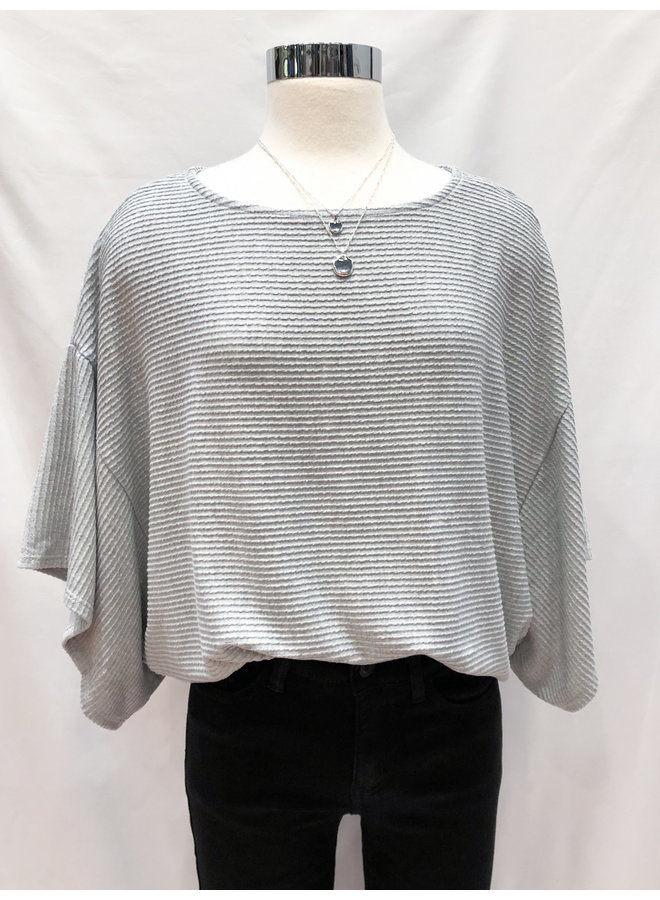TEXTURED KNIT BOXY TEE *2 colors available*