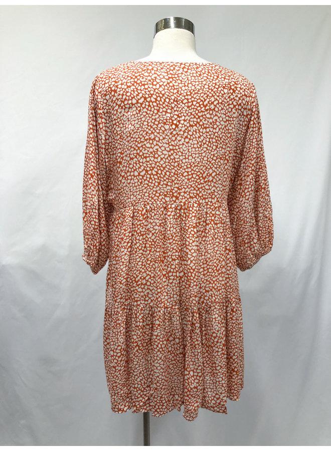 ID30763 ANIMAL TIERED DRESS