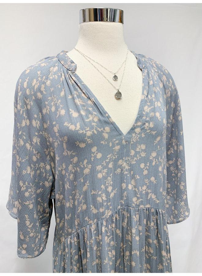 ID30830B FLORAL TIERED DRESS