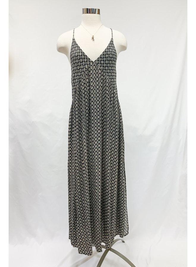 D17382J DITSY MEDALLION MAXI DRESS
