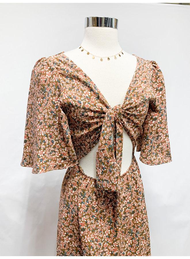 D5902F AUTUMN FLORAL DRESS