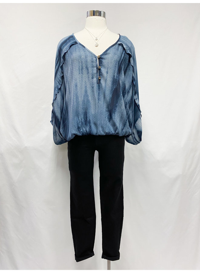 IT30840 TIEDYE JAQUARD BLOUSE