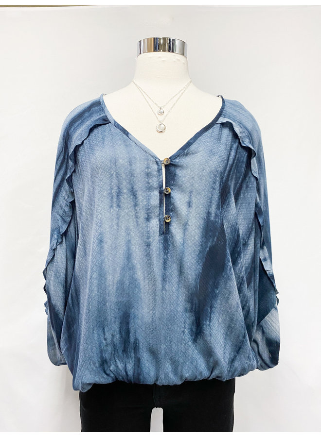 TIE DYE JACQUARD BLOUSE  *2 colors available*