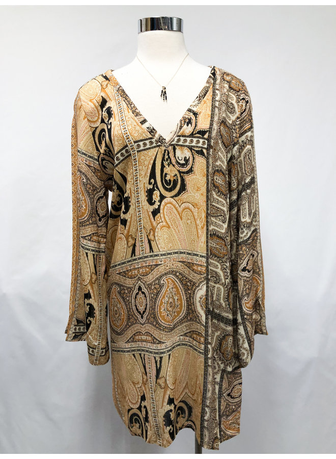 27-690LDH PAISLEY TUNIC DRESS