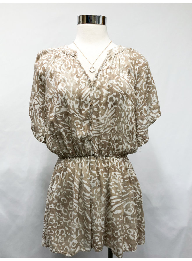 ANIMAL BUTTON UP ROMPER