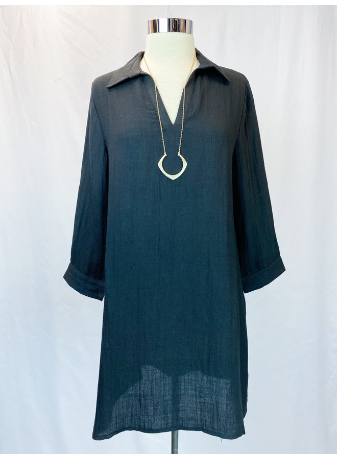 TM4040 COLLAR SHIFT DRESS