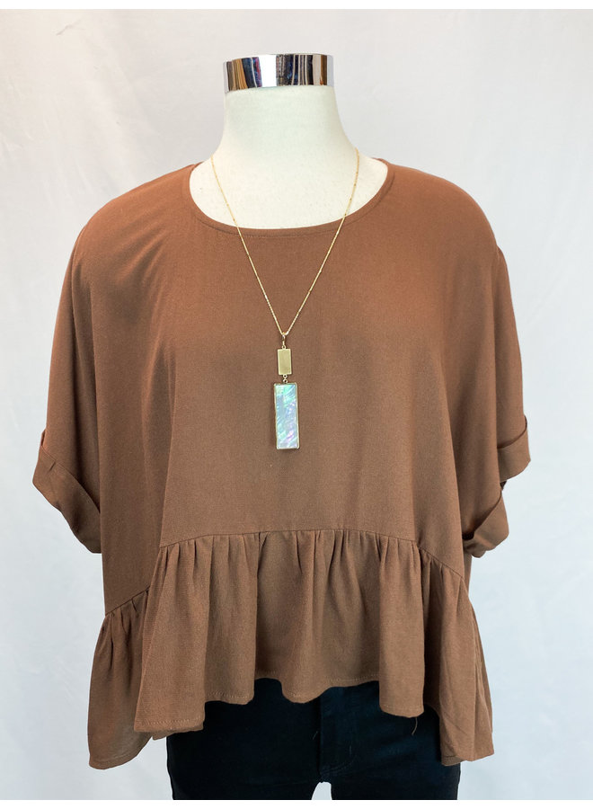 BOXY RUFFLE TOP *3 colors available*