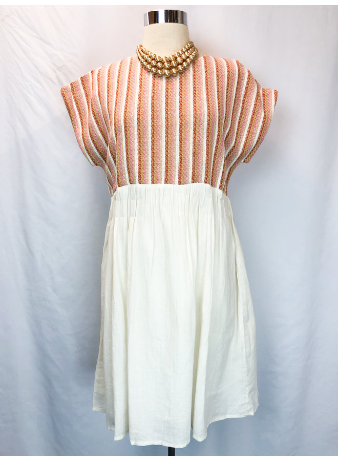 EMROIDERED BABYDOLL DRESS