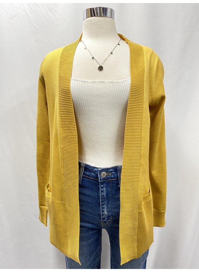 OPEN FRONT CARDIGAN *5 colors available*