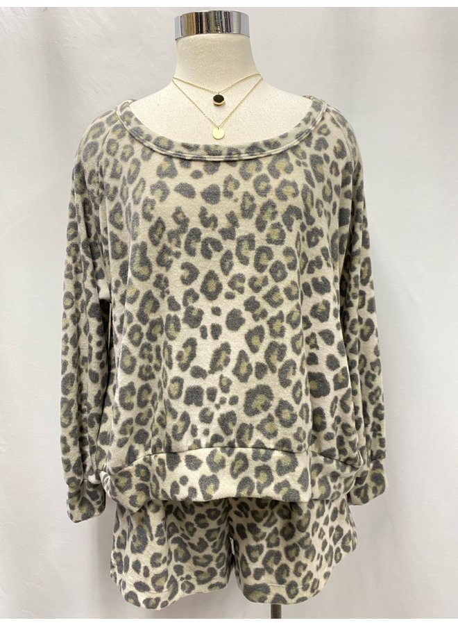 T16402F BRUSHED KNIT PULLOVER