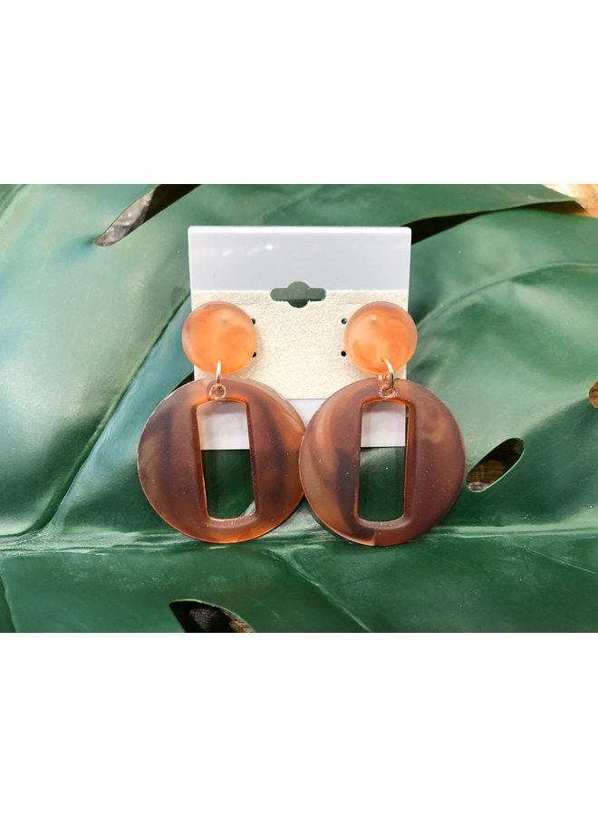 ROUND CUT-OUT EARRINGS