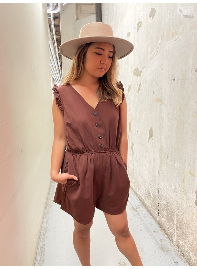 RUFFLE SLEEVE ROMPER *4 colors available*