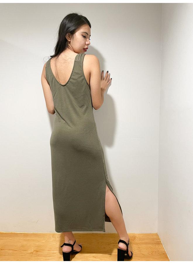 WL19-3568 SHOULDER KNOT MAXI DRESS