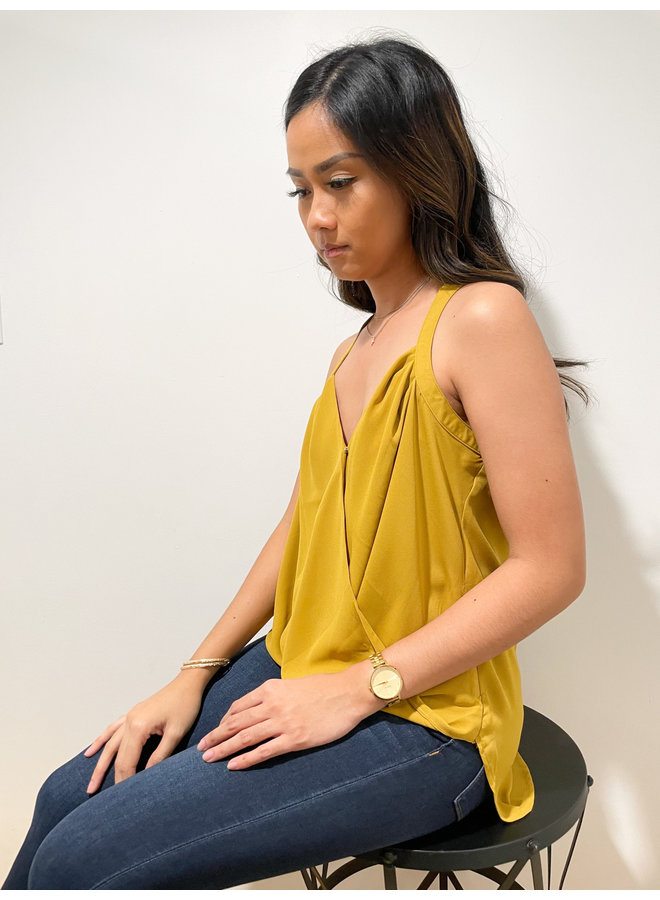 WL19-0004 PLEATED WRAP BLOUSE