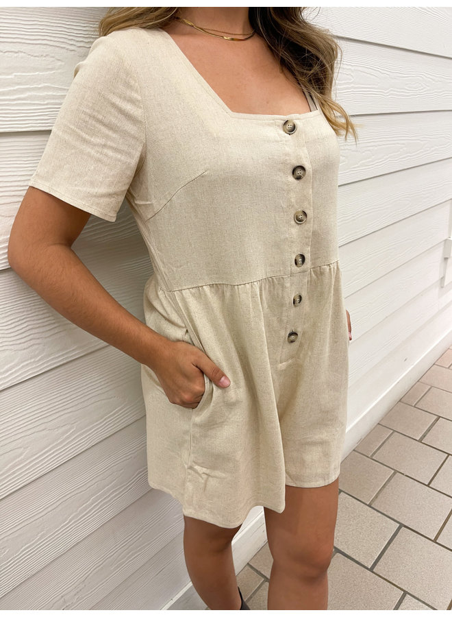 WL19-3044 BUTTON DOWN ROMPER