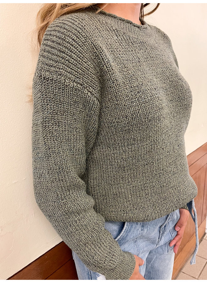WL20-4271 RAW EDGE HEM SWEATER