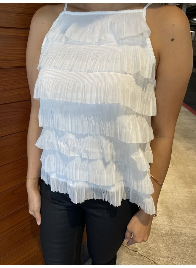 WL20-3804 (OL) TIERED WOVEN TOP