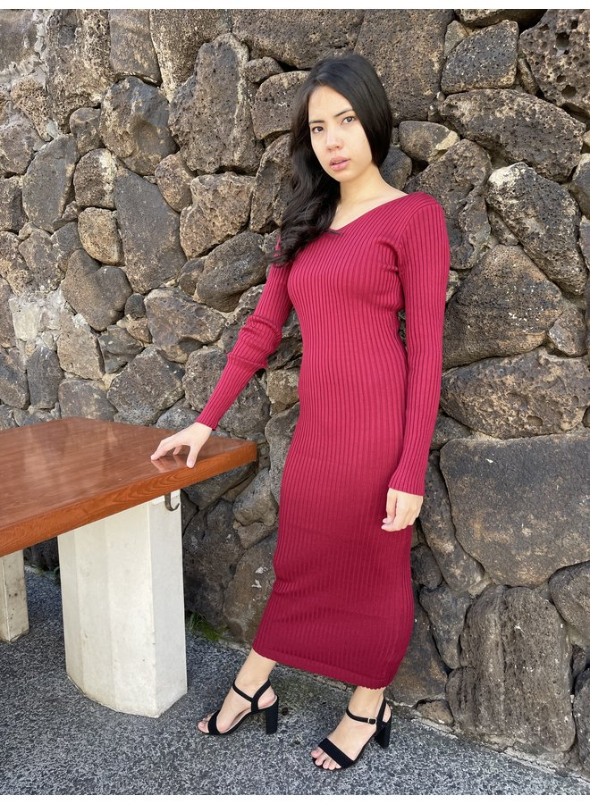 SWEATER BODYCON MAXI DRESS