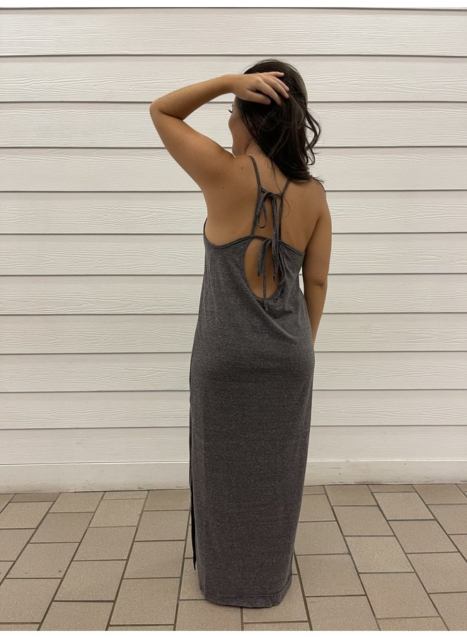 WL19-2400 OPEN BACK MAXI DRESS