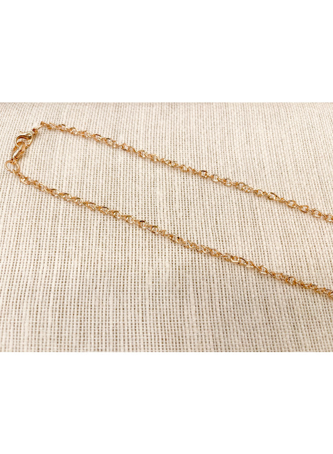MASK CHAIN- GOLD TWISTED LINK