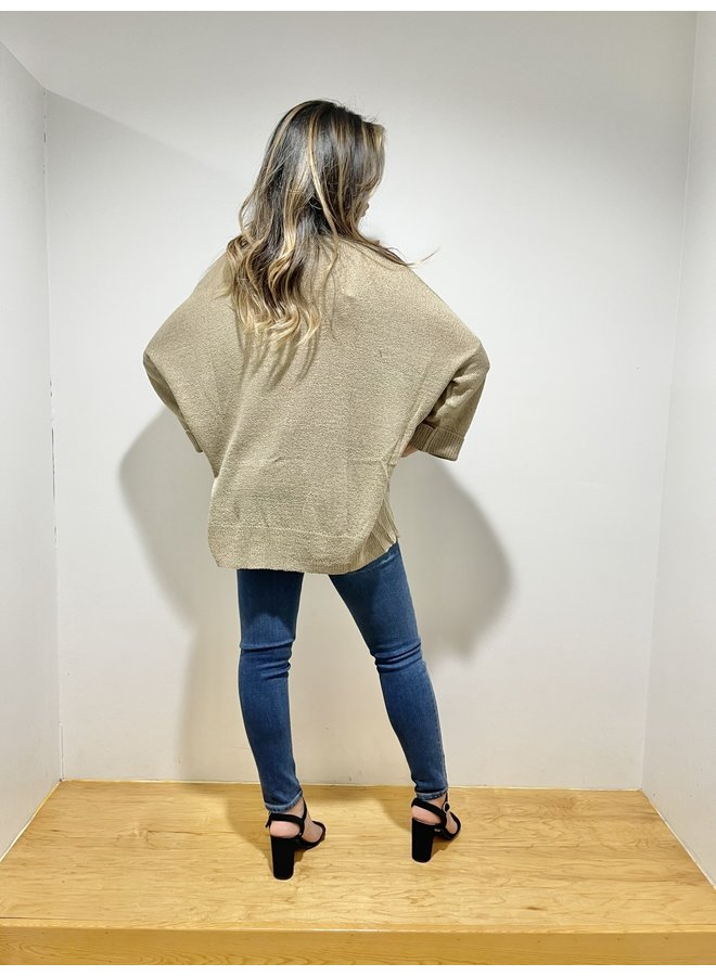 WL20-3935 FRONT POCKET SWEATER