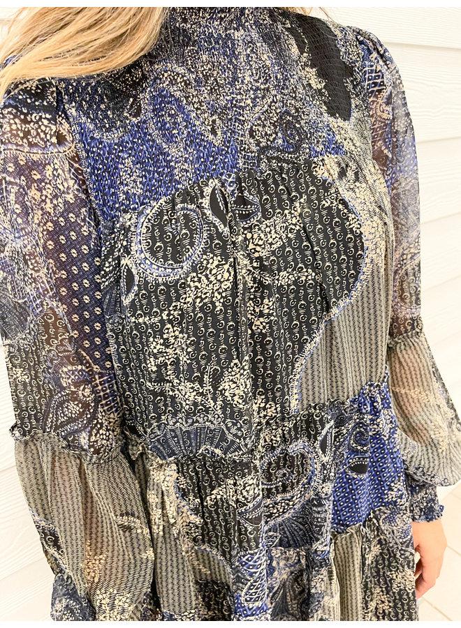 28-669LDJ PAISLEY DRESS