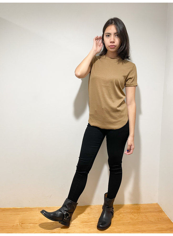 RIBBED BASIC TEE *2 colors available*