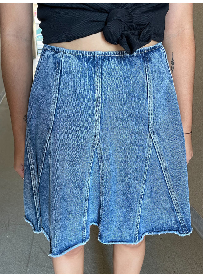 WL20-4273 FLARED DENIM SKIRT