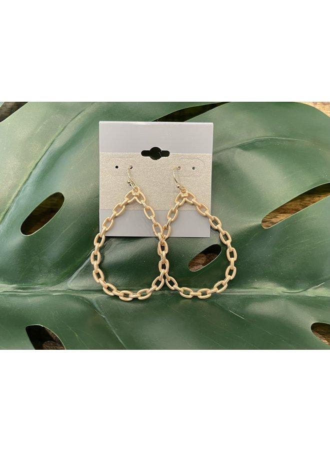 LINK TEARDROP EARRINGS-GOLD