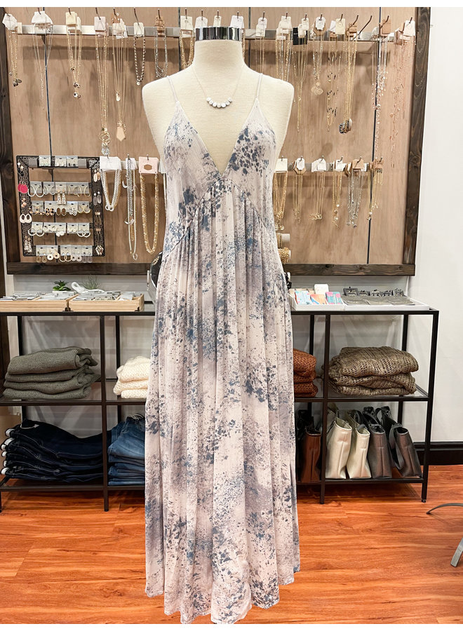 SCATTER PRINT MAXI DRESS  *2 colors available*