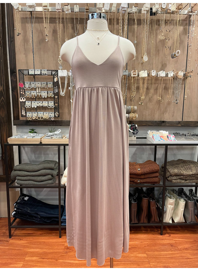 JERSEY BABYDOLL CAMI MAXI DRESS  *3 colors available*
