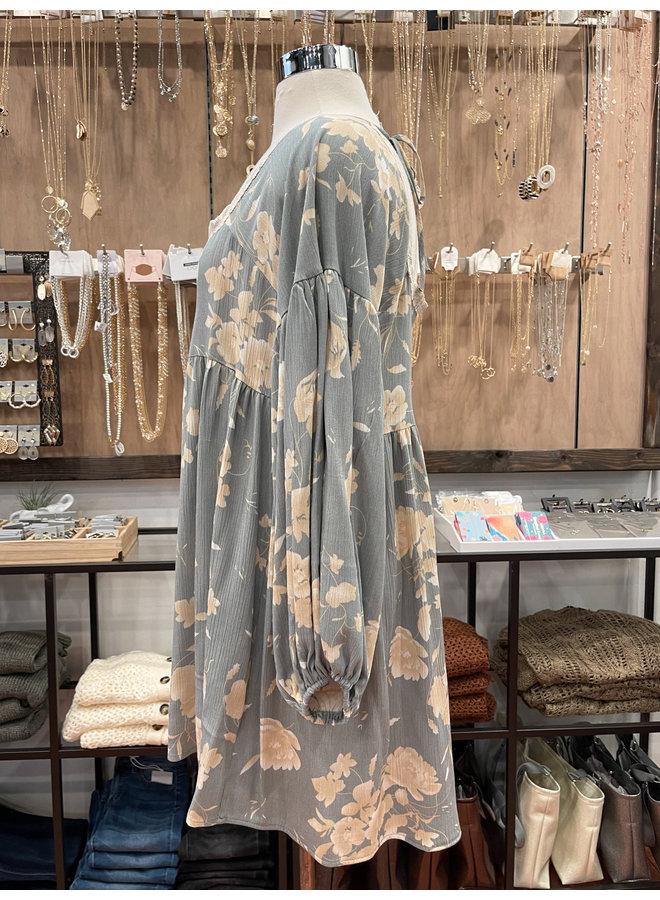 D6520 FLORAL BOHO DRESS
