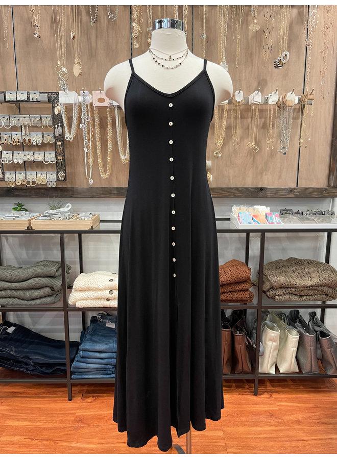 BUTTON TRIM MAXI DRESS *2 colors available*