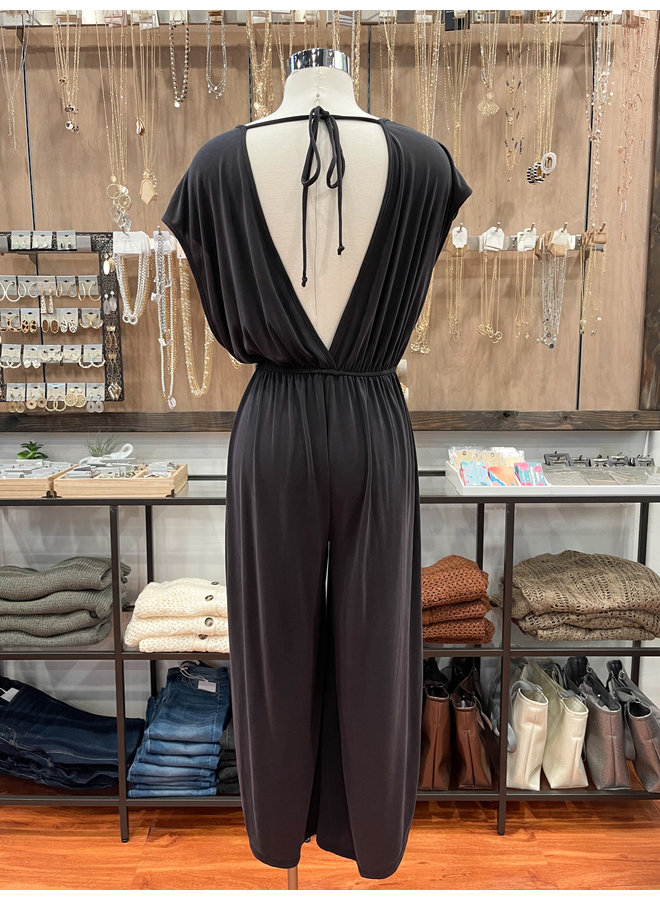 JJU60125A JUMPSUIT WITH BACK TIE