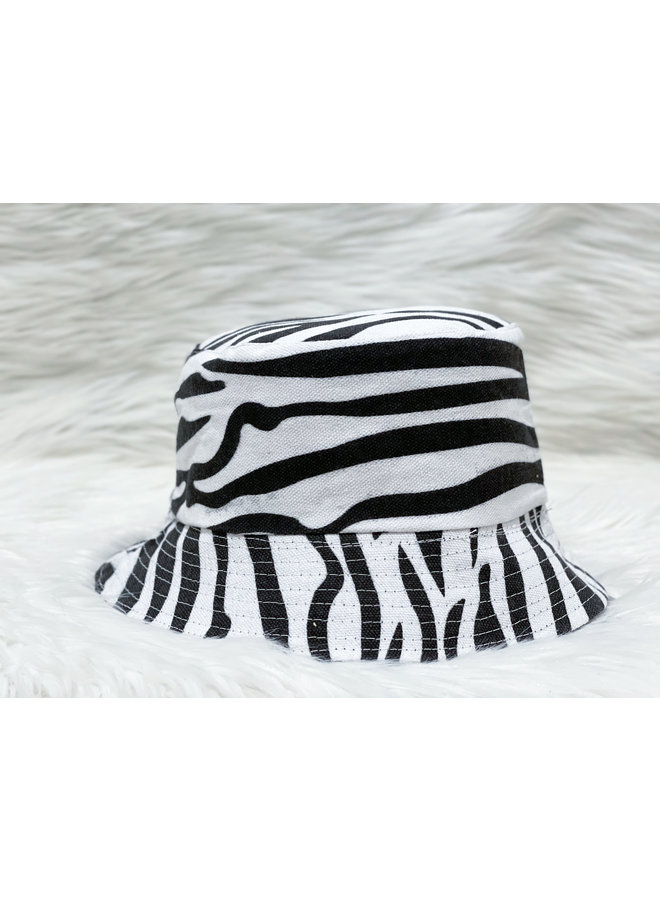 BUCKET HAT-ZEBRA/BLACK