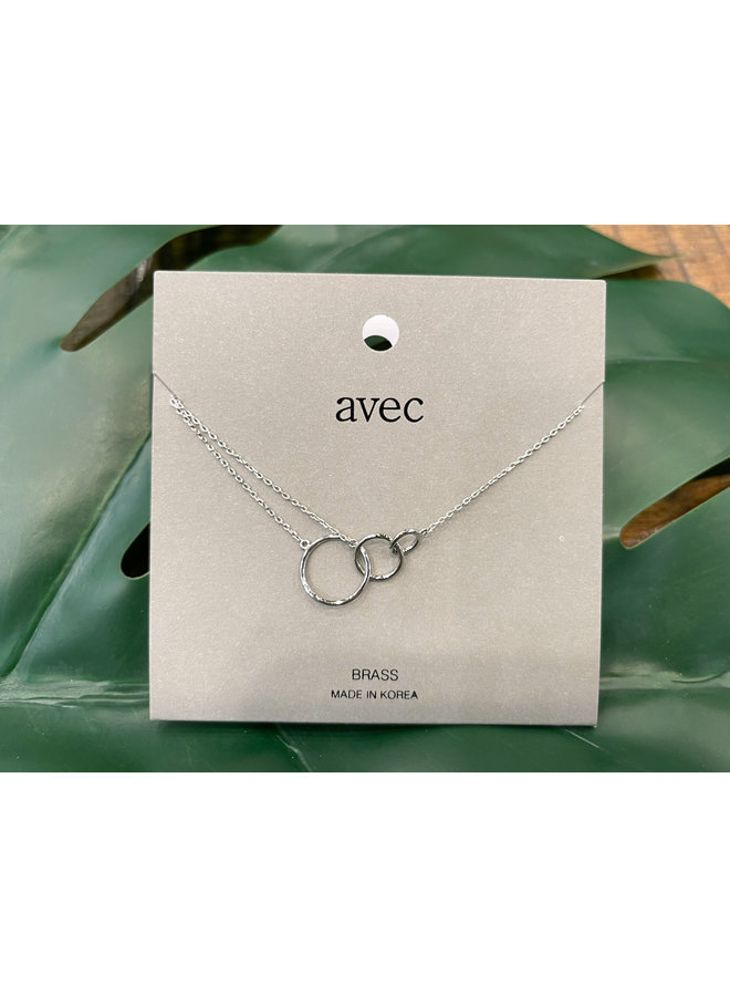 3 RINGS NECKLACE-SILVER