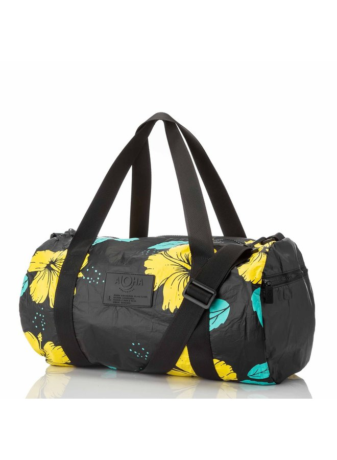 ALOHA COLLECTION DUFFLE HIBISCUS CANARY