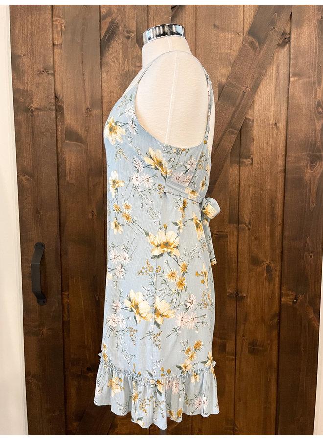 D6518 BOTANICAL FLUTTER DRESS