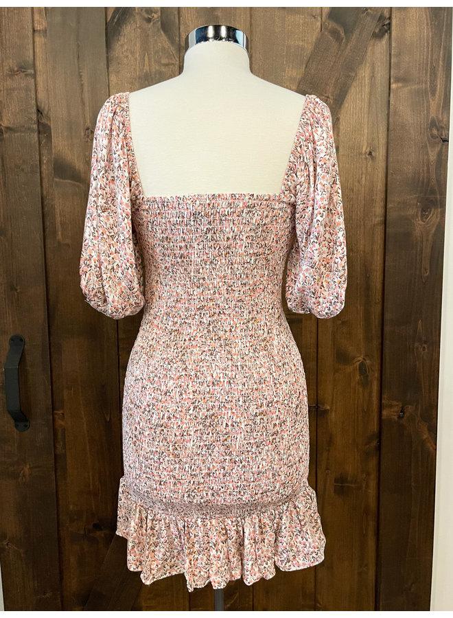 YD638 SMOCKED MARMALADE DRESS
