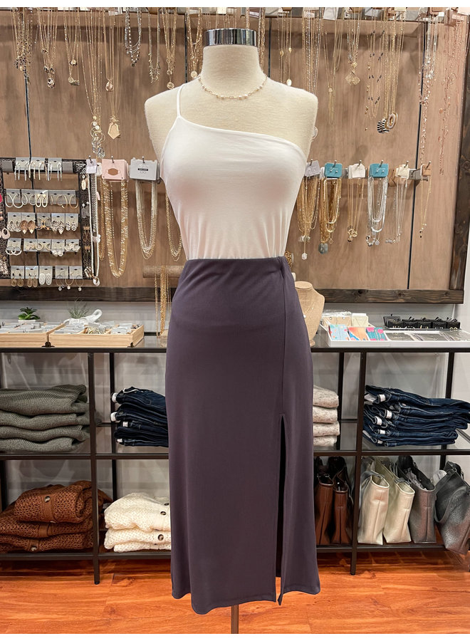 S80040 FINE RIBBED PENCIL SKIRT