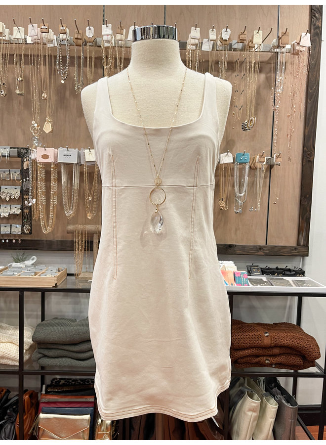 YDA424 DENIM OUTLINE DRESS