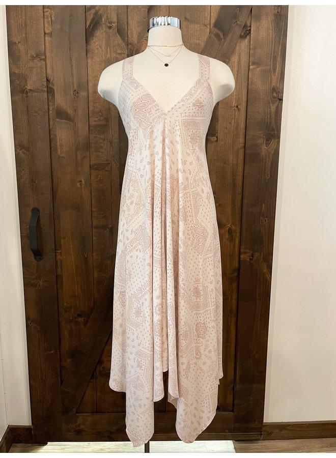 PAISLEY HANDKERCHIEF DRESS *2 colors available*