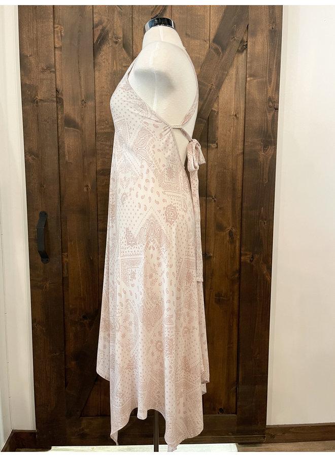 D16941C PAISLEY HANDKERCHIEF DRESS