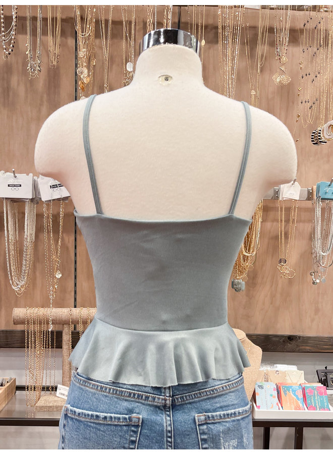 JT30259 FRONT RUCHED CAMI TOP