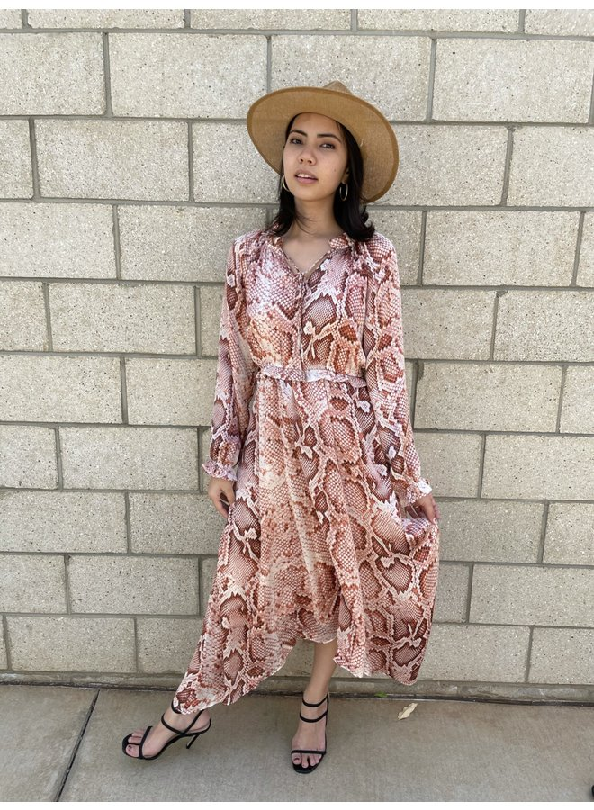 SNAKE LONG SLEEVE DRESS