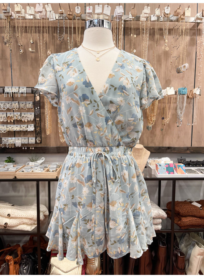 FLORAL FLARE ROMPER *2 colors available*