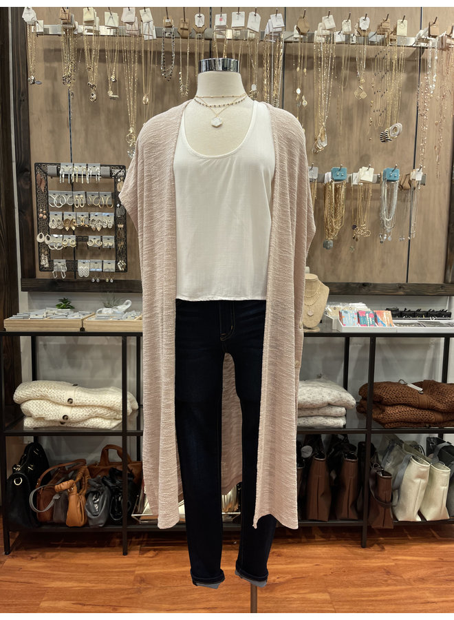 SHEER KNIT DUSTER CARDIGAN *3 colors available*