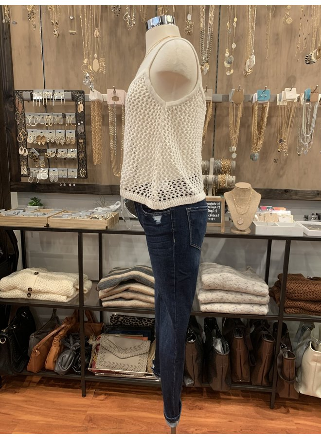 T30239 KNIT SWEATER CAMI TOP