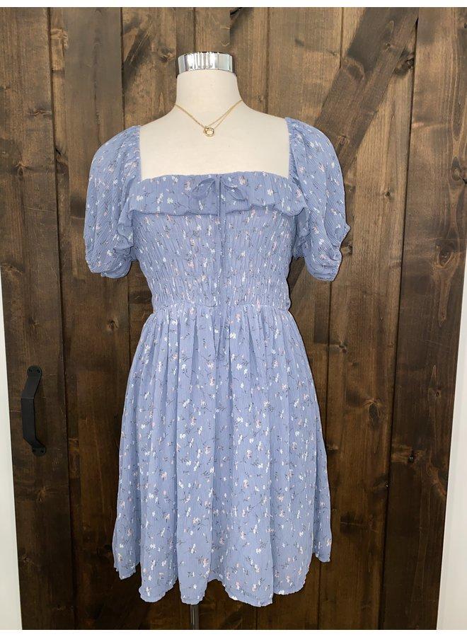 ID31083 FLORAL SMOCKED DRESS